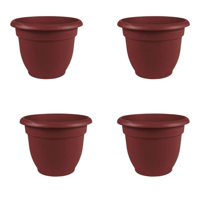 4 x AP0612 Bloem Ariana 6 Inch Self Watering Planter, Union Red (4 Pack)