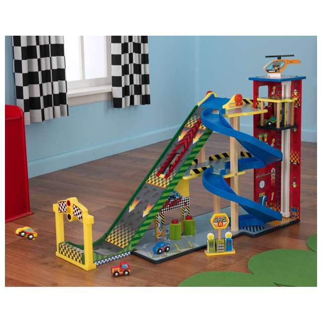 63267-U-A KidKraft Kids Mega Ramp Racing Set for Matchbox and Hotwheels Cars (Open Box)