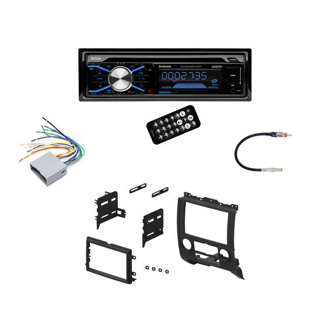 Boss In Dash Car Stereo Audio Receiver + Mounting Kit + Wire Harness Wiring Harness Kits For Car Stereos on car stereo with ipod integration, car stereo cover, car wiring supplies, leather dog harness, car stereo alternators, car fuse, 95 sc400 stereo harness, car speaker, car stereo sleeve,