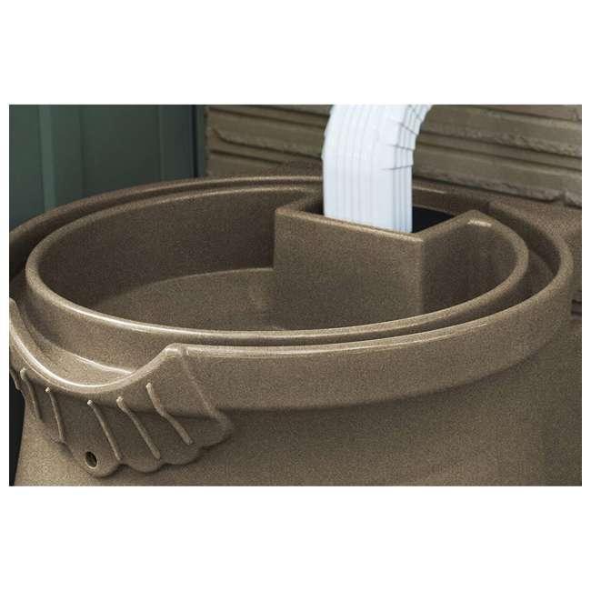 RWURN50-SAN Good Ideas Rain Wizard Barrel Urn 50 Gallons, Sandstone 4