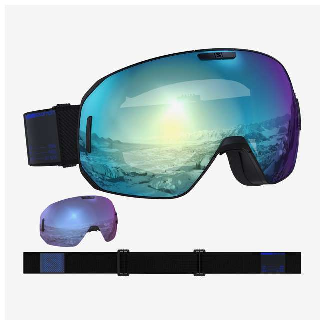 L40836100 Salomon L40836100 High Performance S/Max Photo Sigma BK Skiing Goggles, Sky Blue