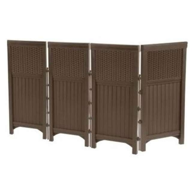 FSW4423 + DBW9200 Suncast Backyard Patio Screen Gate w/ Backyard Patio Garden Garage Wicker Resin 1