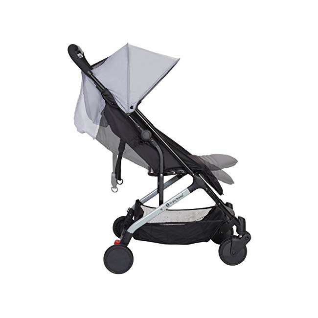 ST49A67A Baby Trend Tri Fold Lightweight Compact Mini Stroller with Carry Strap, Pebble 2