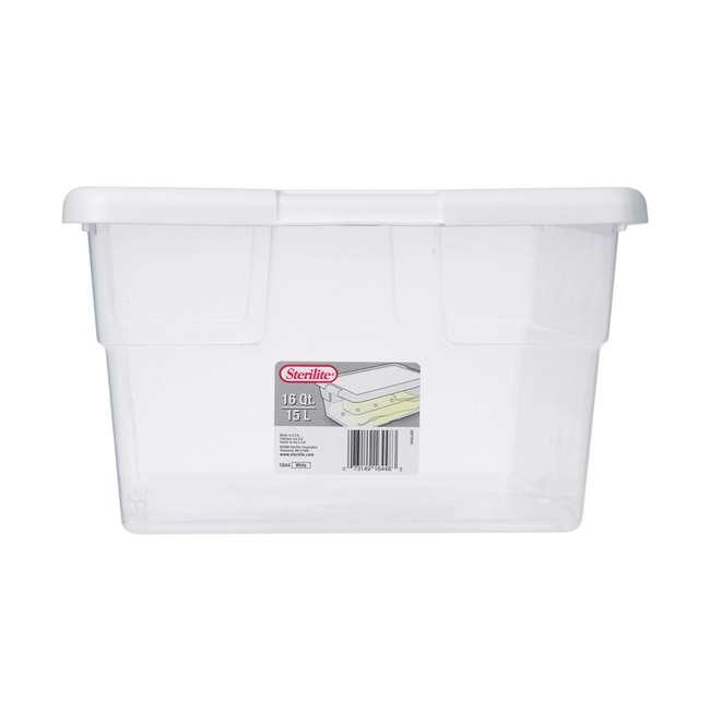 12 x 16448012 + 24 x 16428012 Sterilite 16 & 6 Quart Storage Container Tubs (12 & 24 Pack) 2