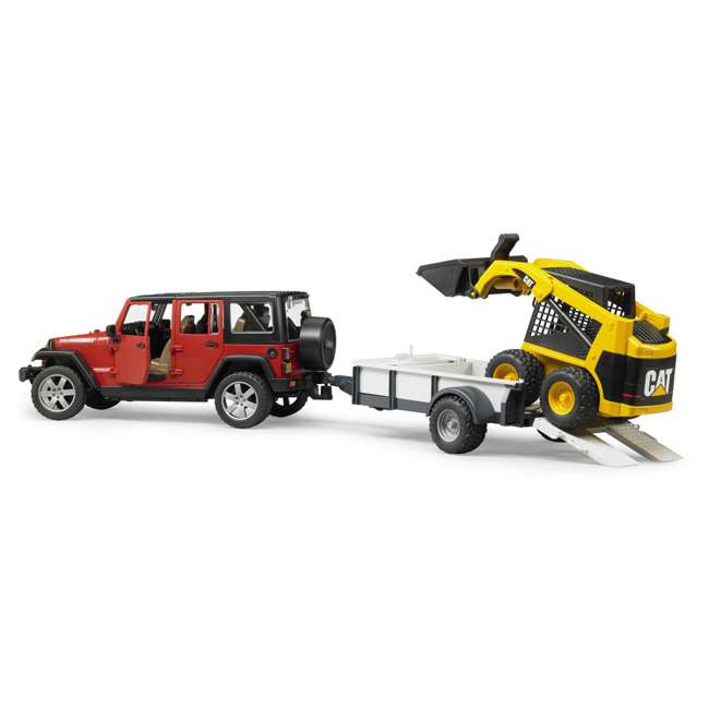 02925-BR Bruder Toys Jeep Wrangler Unlimited Rubicon with Cat Loader 1