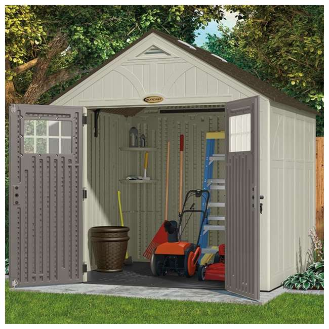 BMS8700 Suncast  8' x 7' Outdoor Patio and Garden Storage Shed 1