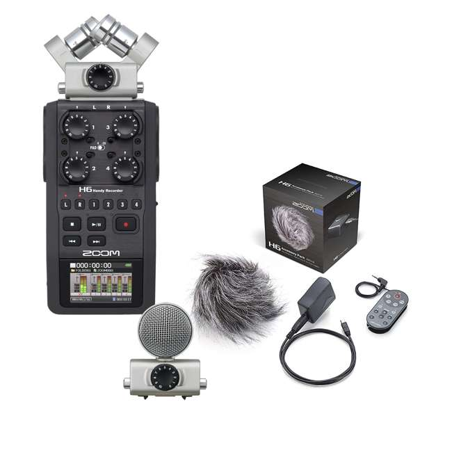 H6 + APH6 Zoom H6 Handy Digital Recorder System with Accessory Pack