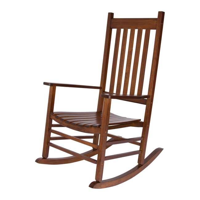 SHN-4332OA Shine Company Vermont Hardwood Outdoor Porch Patio Furniture Rocker Chair, Oak