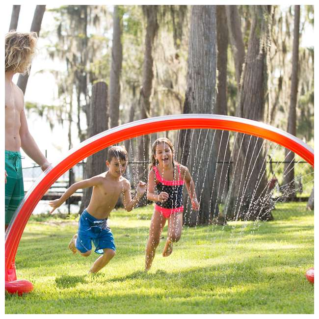 WMO-61394 Wham-O Inflatable Outdoor Water Giggle 'N Splash Rainbow Arch Sprinkler, Blue 1