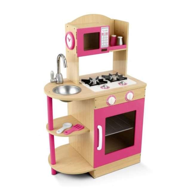 Kidkraft Pink Kitchen: KidKraft Modern Wooden Play Kitchen (Pink)