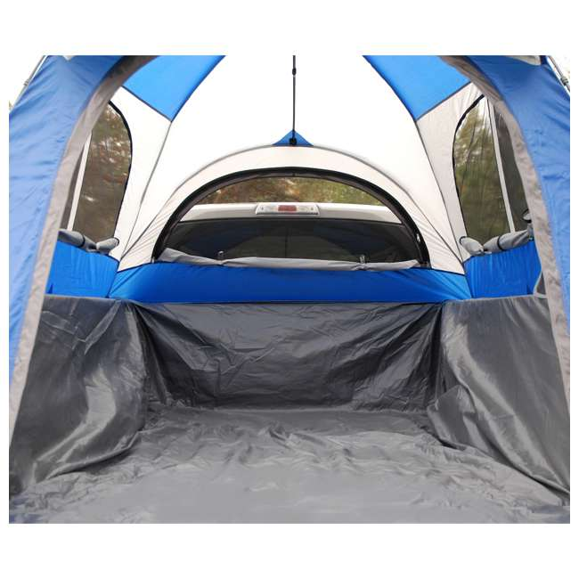57011-U-B Napier Sportz 8.2 Ft. Easy Setup Full Size Long Truck Bed Tent, Blue/Gray (Used) 7