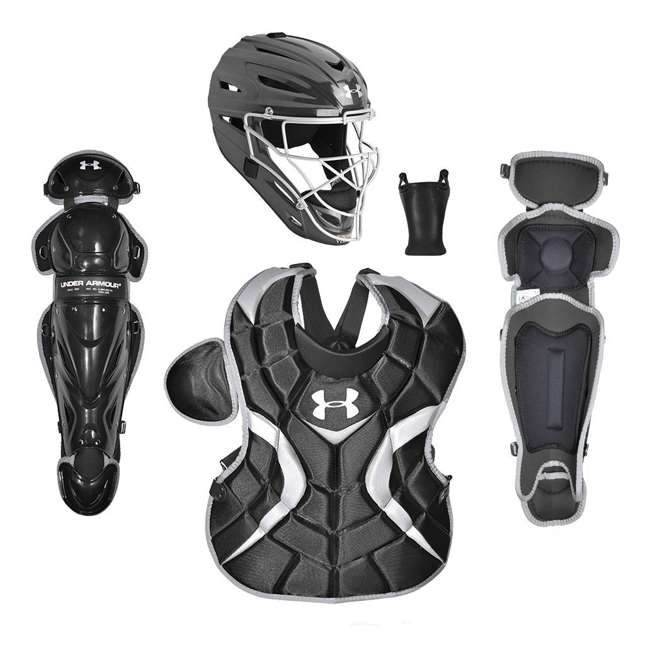 UACKCC2-JRVS-BK-U-B Under Armour Youth PTH Victory Catching Gear, Age 9 to 12 (Black) (Used)