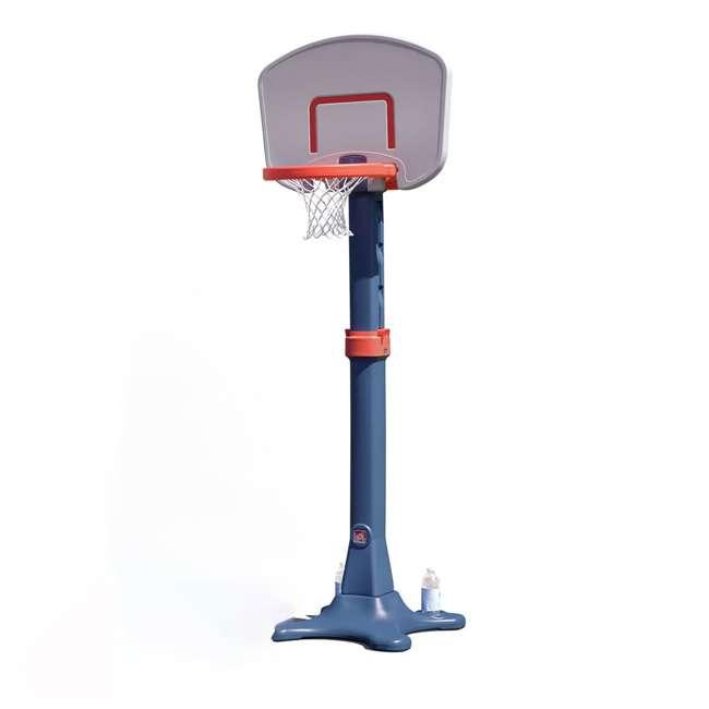 735700-U-B Step2 Durable Adjustable Child Pro Basketball Hoop and Ball, Blue (Used)