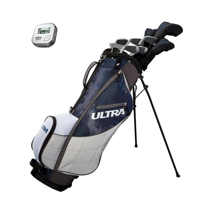 WGGC4360L + GB7-VOICE2-GREY Wilson Ultra Men's Left-Handed Complete Golf Club Set & Rangefinder