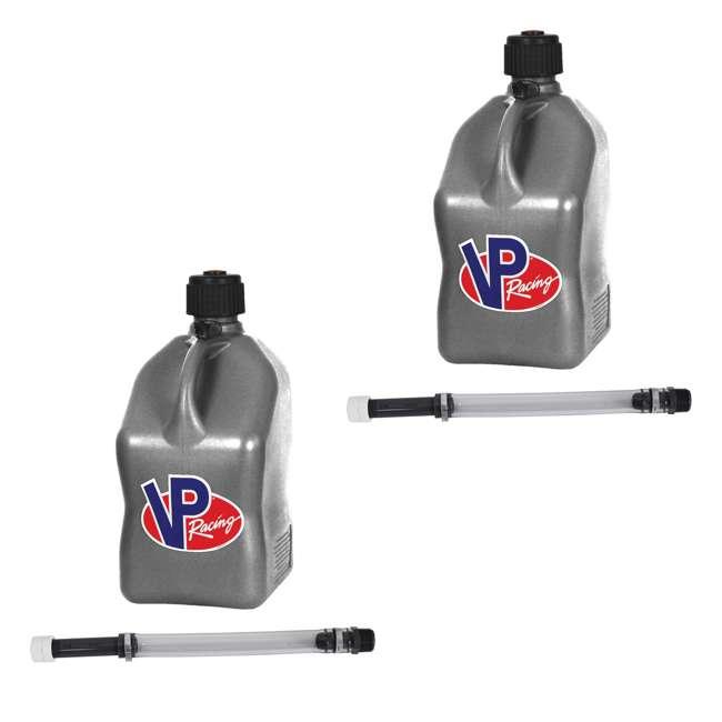 "3602 + 2 x 3044B VP Racing 5-Gallon Motorsport Racing Fuel Gas Can (2 Pack) & 14"" Hose (2 Pack)"