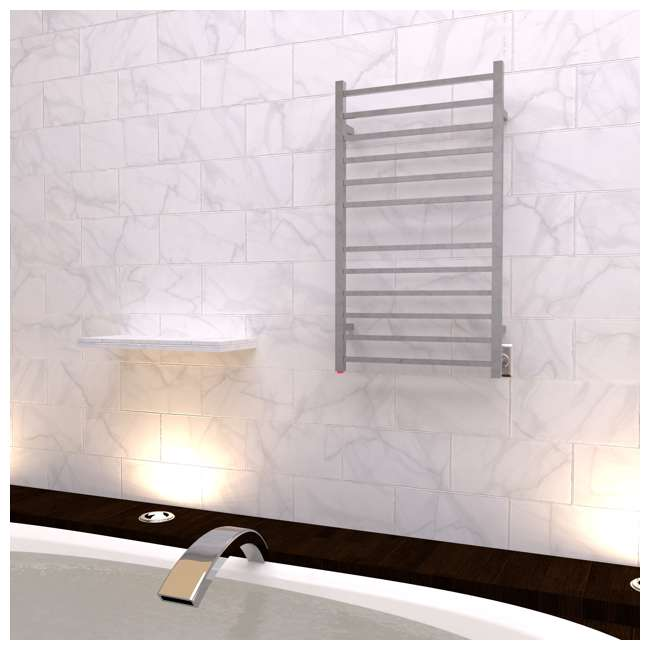 RSWHL-B Amba Radiant Large Hardwired Square Towel Warmer, Brushed 3
