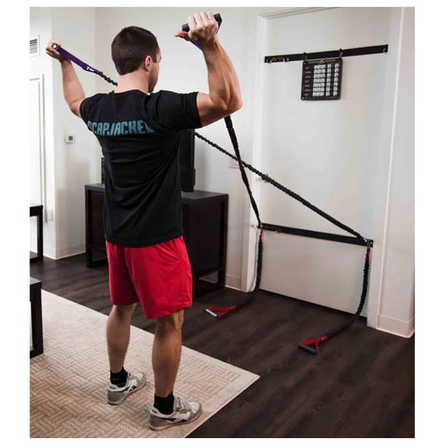 CSCRD-YL Crossover Symmetry Shoulder Resistance Home Exercise Crossover Cords, 10 Pounds 1