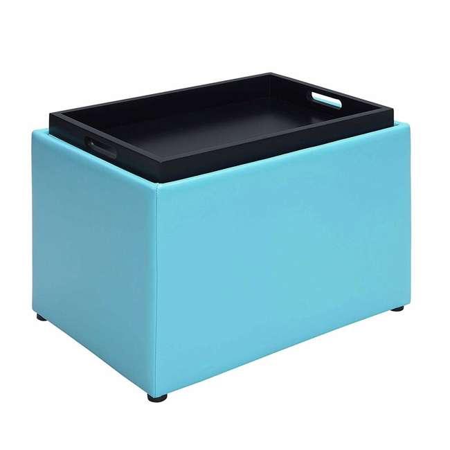 R8-159 Convenience Concepts R8-159 Designs4Comfort Accent Storage Space Ottoman, Teal 2