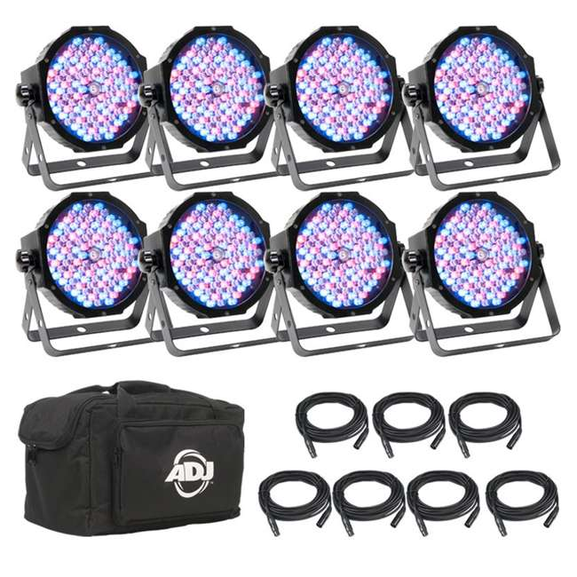 MEG224 American DJ Mega Flat Pak 8 Plus LED System w/ Bag + Cables (Open Box)