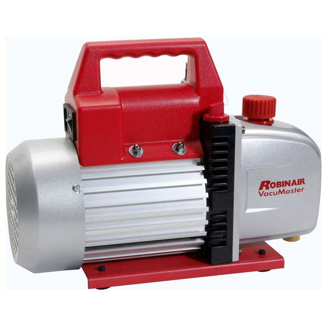 ROB-15500 + RB-48510 Robinair Heavy Duty 1/3 HP 2 Stage Vacuum Pump with Refrigerant Manifold Set 3