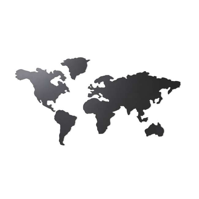 1008050-624 Umbra Mappit Metal World Map Wall Art Decor