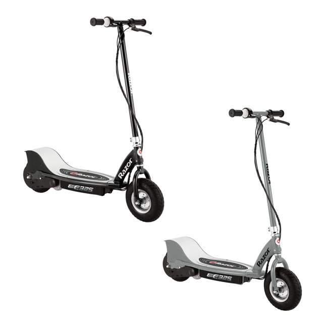 13116312 + 13116397 Razor E325 Electric Motorized Scooters, 1 Silver & 1 Black