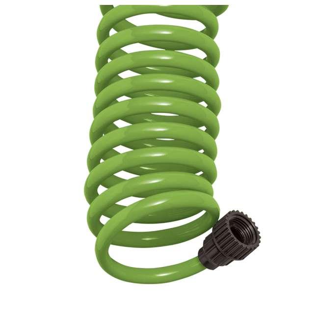 3 x ORBIT-26380 Orbit 25-Foot Green Coil Garden Hose w/ 8 Spray Patterns (3 Pack) 3