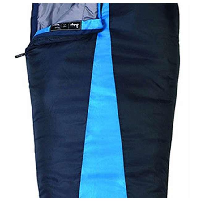4 x 51723811RR Slumberjack Latitude 40-Degree Polyester Sleeping Bag, Blue (4 Pack) 3