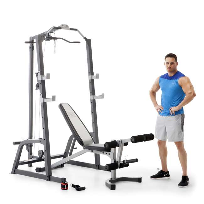 Marcy Deluxe Smith Cage System With Weight Bench : PM-5108