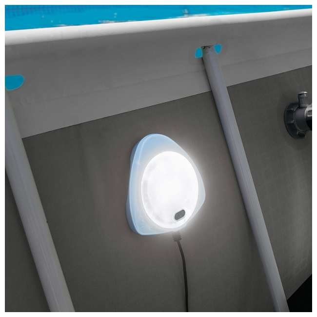 4 x 28687E  Intex Above Ground Multi Color LED Magnetic Pool Wall Light (Open Box) (4 Pack) 4