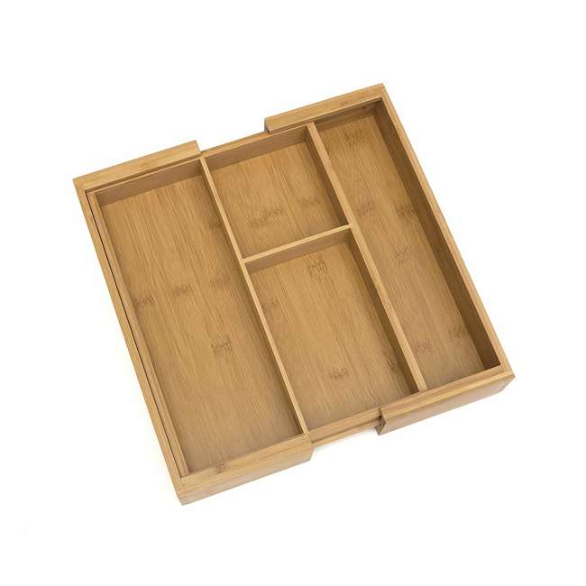 4 x LP-8893 Lipper Bamboo Expandable Gadget Organizer Tray (4 Pack) 4