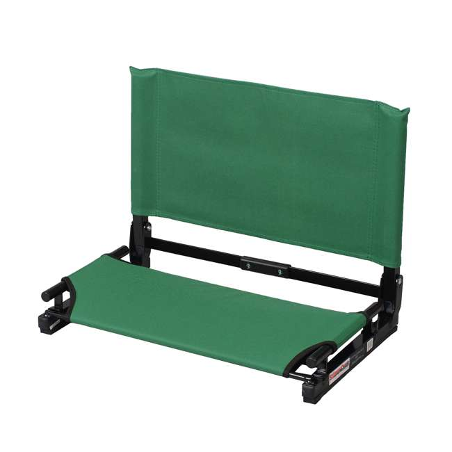 WSC2-FOR.GREEN Stadium Chair Deluxe Game Changer Folding Bleacher Seat, Forrest Green (2 Pack) 1