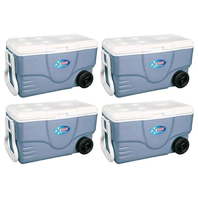 4 x 6262A758 Coleman Xtreme 5 Coolers w/ Wheels - 62 Qt (4 Pack)