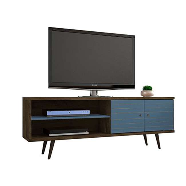 201AMC93 Manhattan Comfort Liberty 62.99 Inch Mid Century Modern Wood TV Stand with Legs 1