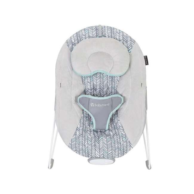 BC20B25B Baby Trend EZ Baby Bouncer with 2 Hanging Toys and Calming Vibrations, Ziggy 3