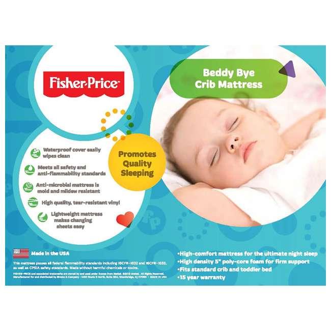 810551-30 Fisher-Price Beddy Bye Baby Foam Crib Mattress (2 Pack) 2