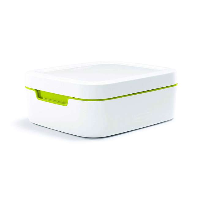 1995512 Rubbermaid Balance 11 Piece Food Storage Container Set Kit, White and Green 2