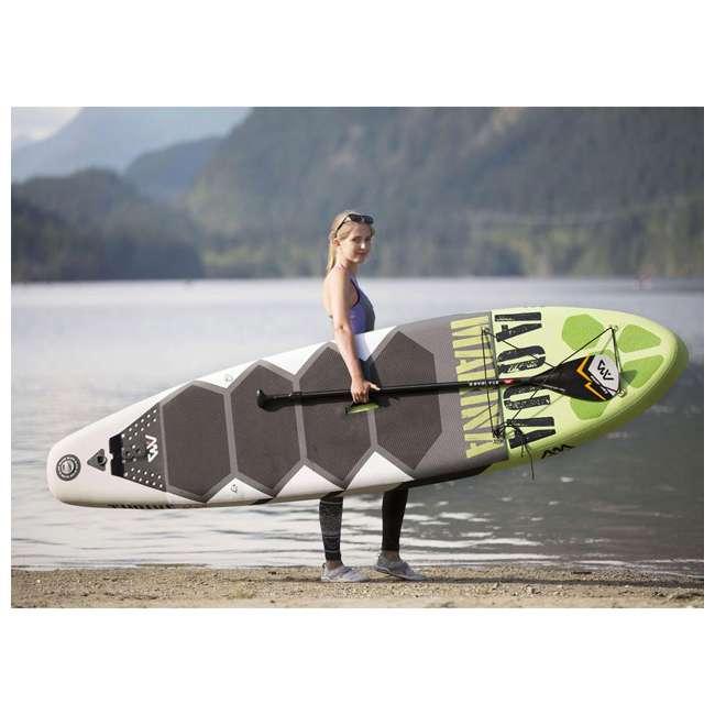 BT-17TH-U-B Aqua Marina Thrive 117 Inch Stand Up Paddleboard Set w/ Pump, Green (Used) 6