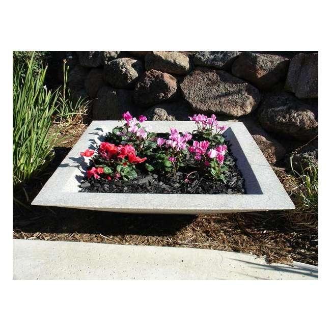 CUPL-2407SS Qualarc Stone Patio Cubic Planter Pot Sandstone 24-Inch