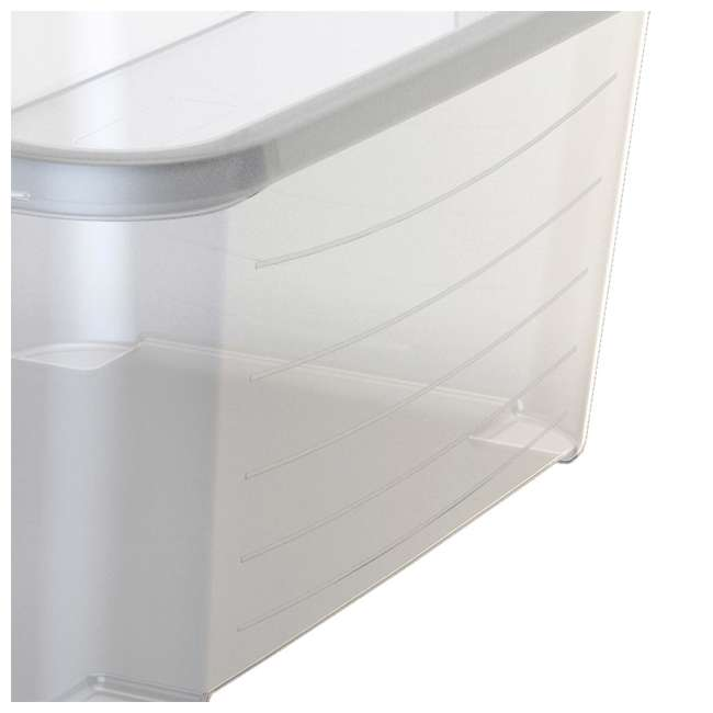 6 x CS-50-U-A Life Story Clear Stackable Closet & Storage Box 55 Quart Containers, (6 Pack) 5