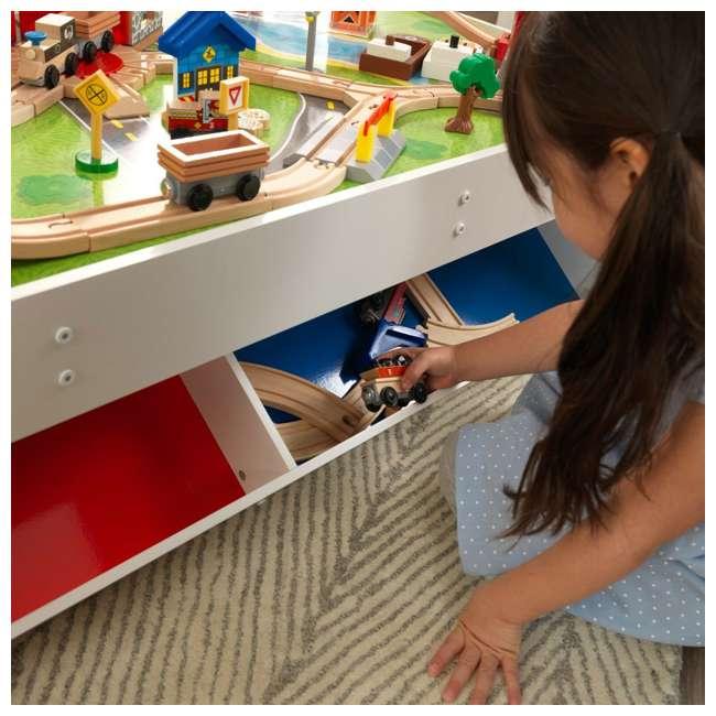 KDK-18012 KidKraft 18012 Railway Express Kid Toddler Wooden 79 Piece Toy Train Set & Table 4