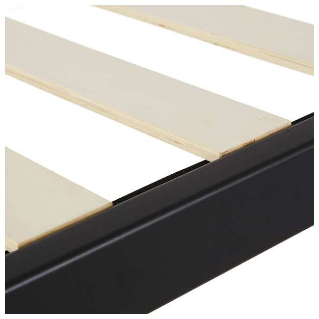 IBS_WSBFHB-F-U-A intelliBASE Full Wooden Slat Platform Bed Frame with Headboard (Open Box) 3