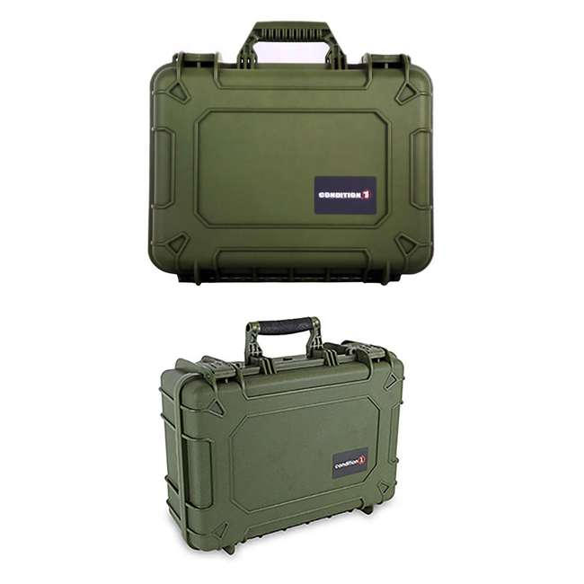 "H075GNF8542AC1 + H801GRF8539AC1 Condition 1 14"" Protective Carrying Case & Storage Case, Green"