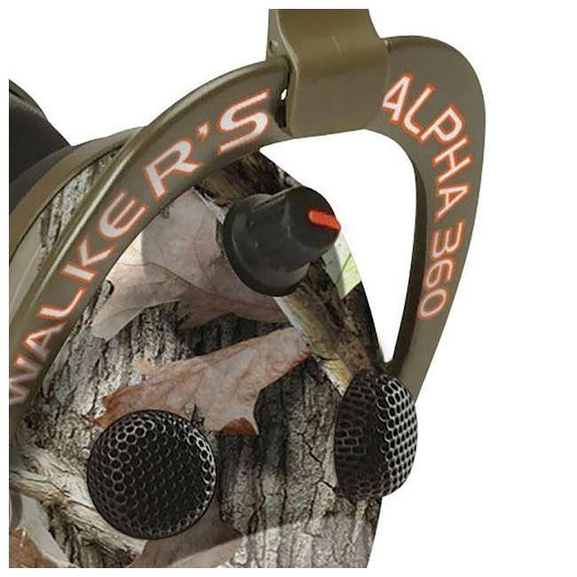 GWP-AM360NXT Walker's Alpha Muffs 360 Hearing Enhancement Earmuffs, Camo 1
