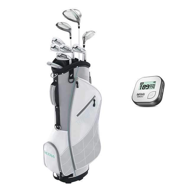 WGGC43300 + GB7-VOICE2-GREY Wilson Ultra Ladies Right-Handed Golf Club Bag Set & Rangefinder 10