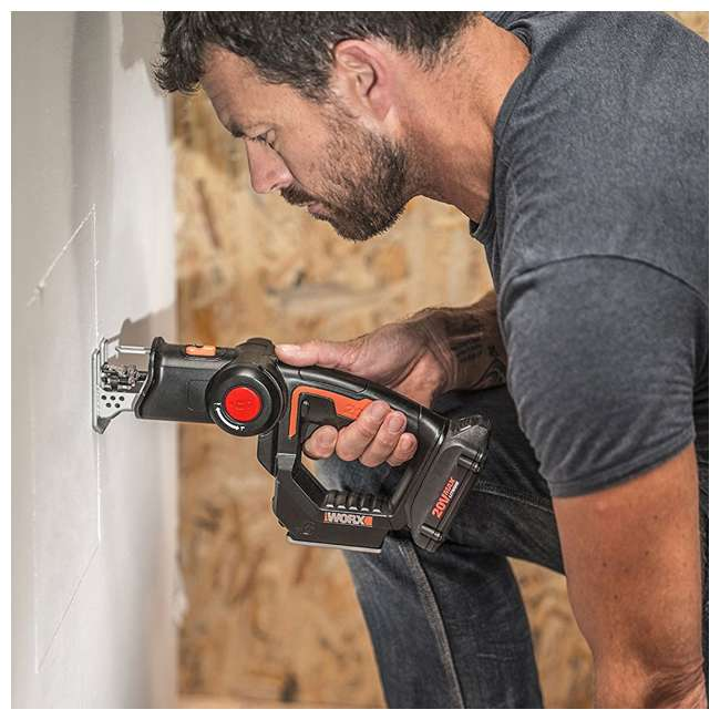 WX550L Worx 20V Axis MaxLithium Battery 2-In-1 Cordless Reciprocating and Jig Saw Tool 4