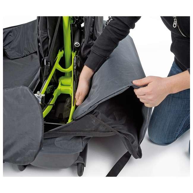 96900 B&W International Padded Lightweight Zippered Bike Bag and Case II, Black 6
