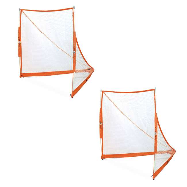 BowLAX Bownet Full Size Pop Up Soccer Pugg Lacrosse Goal Net  (2 Pack)