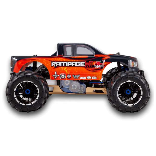 RAMPAGE-MT-V3-OF-U-C Redcat Racing Rampage MT V3 Gas Truck RC Truck, Orange/ Flame (For Parts) 1