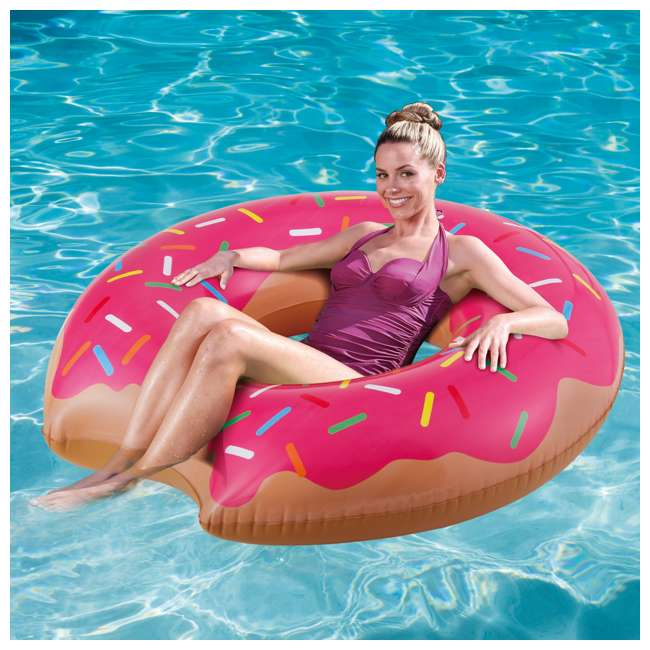 P4A02252B167 + 2 x K10427000167 Summer Waves 22 Ft Above Ground Pool Set + Giant Donut Inflatable Float (2 Pack) 10